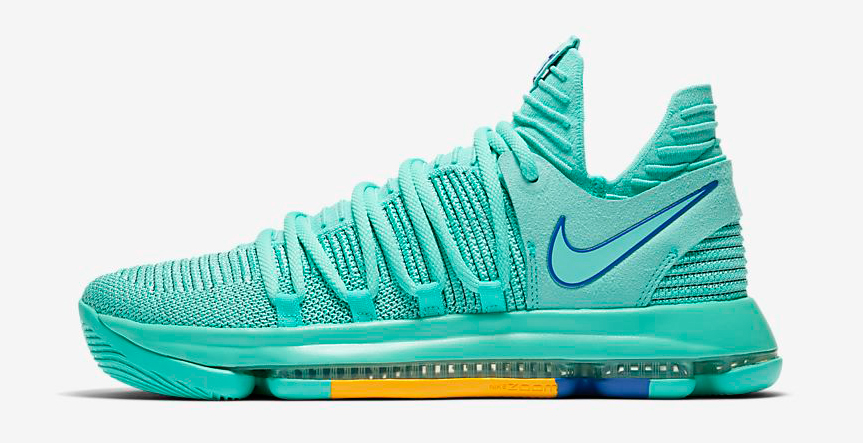 "2df2eeee5f8 Nike KD 10 City Edition ""Hyper Turquoise"""