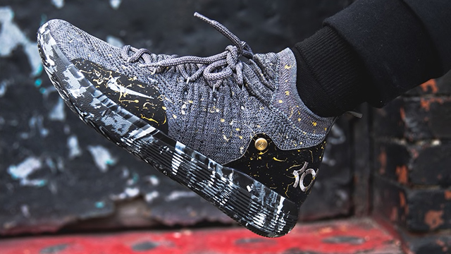 kd 11 black and gold Kevin Durant shoes