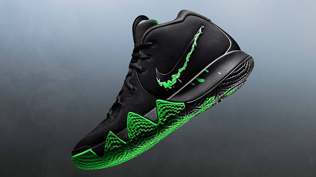 """4aa5af3f0f16 Nike Kyrie 4 """"Black Rage Green Slime"""" Available in Time for Halloween"""