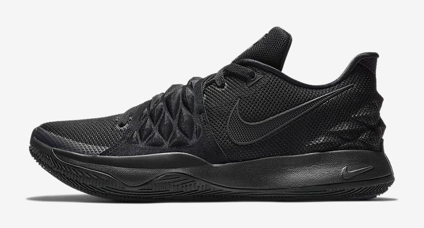 finest selection 727b2 b9423 Nike Kyrie Low Triple Black Available Now | SportFits.com