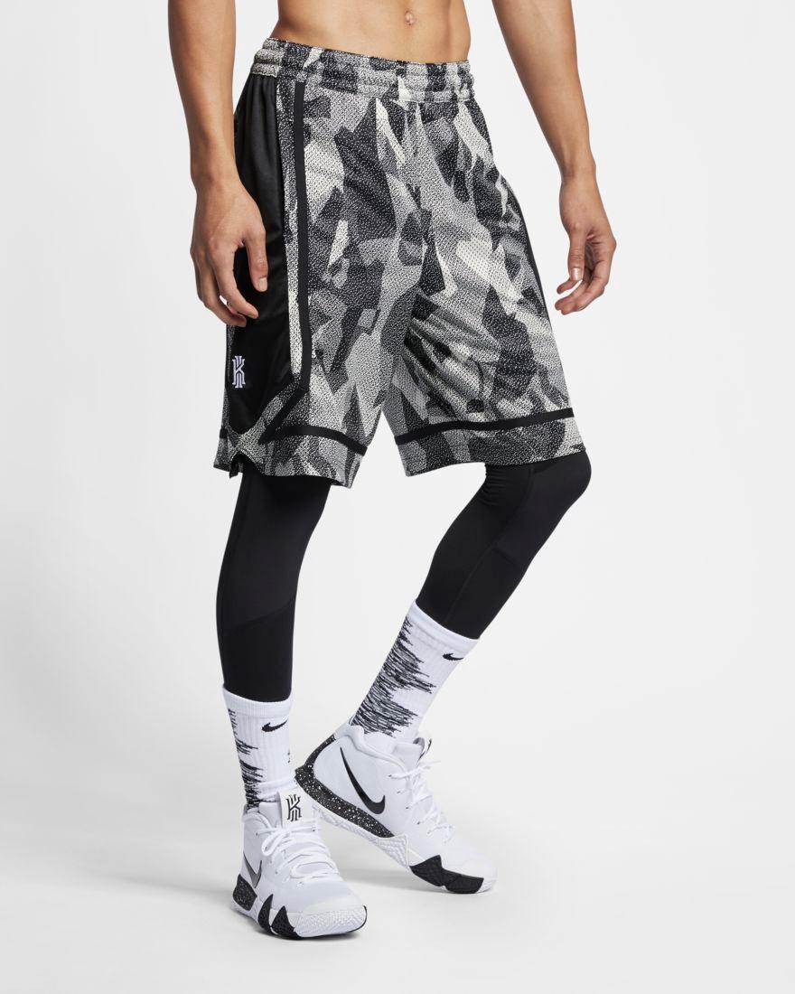d819a8d07be6 Nike Kyrie Dri-FIT Elite Basketball Shorts. nike-kyrie-5-basketball-shorts -grey-black-1