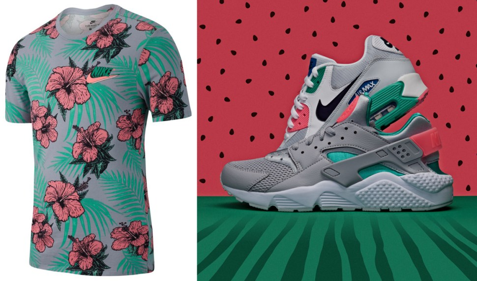 factory authentic a82a8 f97bc Nike Watermelon South Beach Flower Shirt | SportFits.com