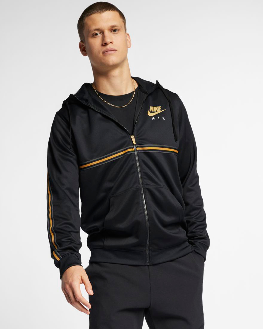 factory price 30038 094ca nike-sportswear-metallic-gold-black-hoodie-2