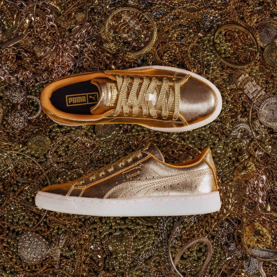aa55581b7a13 Puma Suede 50th Anniversary Metallic Gold