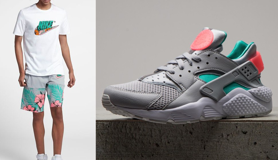 best loved a3e3b 54a8f south-beach-nike-air-huarache-shorts-match