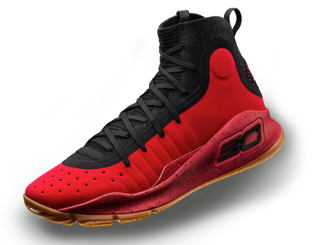 Under Armour Curry 4 Red Black