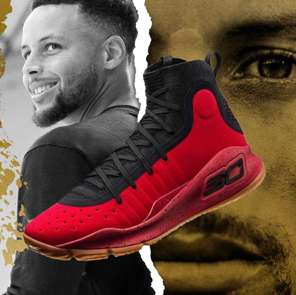 78f25dbe56c9 Under Armour Curry 4 Red Black