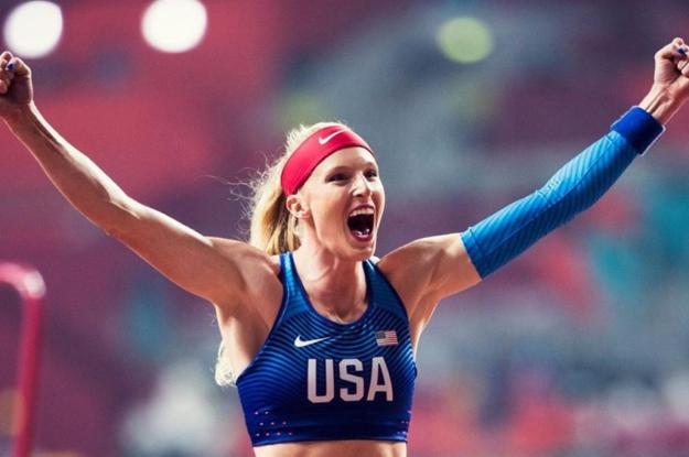 U.S. Olympic Medalist Sandi Morris Gets Creative with her Quarantine Training