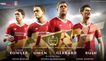 Джеррард, Оуэн и другие легенды «Ливерпуля» в Pro Evolution Soccer 2018