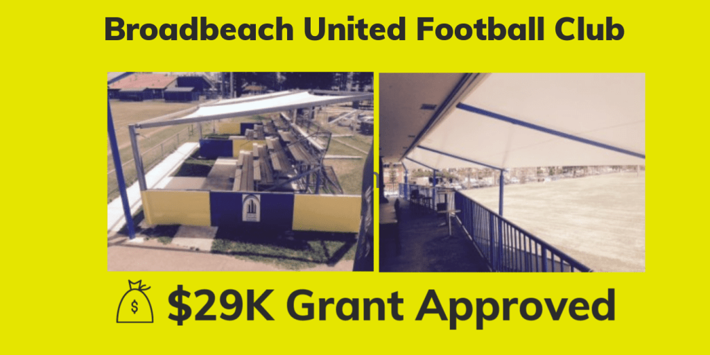 Broadbeach United Football Club Grant Funding