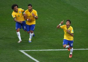 Neymar and Brazil play World Cup last 16 against Chile