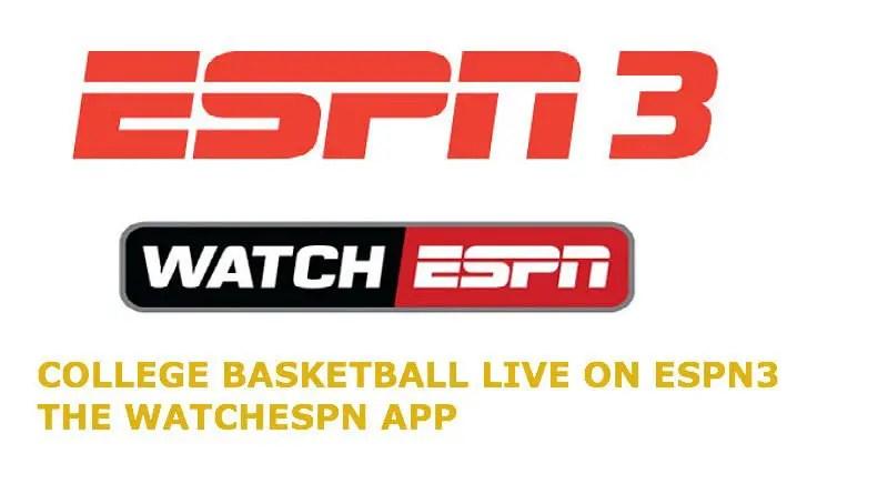 ESPN3 schedule College Basketball Live