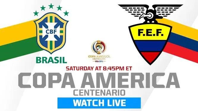 Brazil v Ecuador: Copa America Live Stream, Teams
