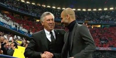 Pep Guardiola and Carlo Ancelotti
