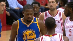 Durant scores 32, Warriors crushed Rockets 125-108 for 6th straight