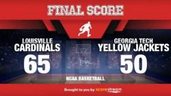 No. 9 Louisville Beats Georgia Tech 65-50; Mitchell scores 20pts