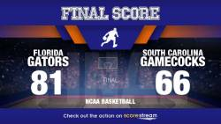 KeVaughn Allen Scores 26, Leads No. 13 Florida Past South Carolina