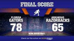 Canyon Barry Scores 14pts, No. 12 Florida Tops Arkansas 78-65