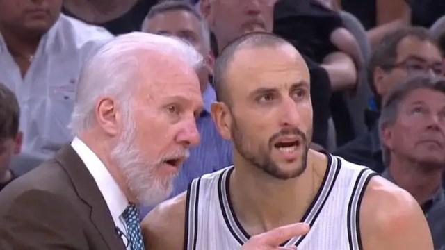 Gregg Popovich and Manu Ginobili NBA Playoffs