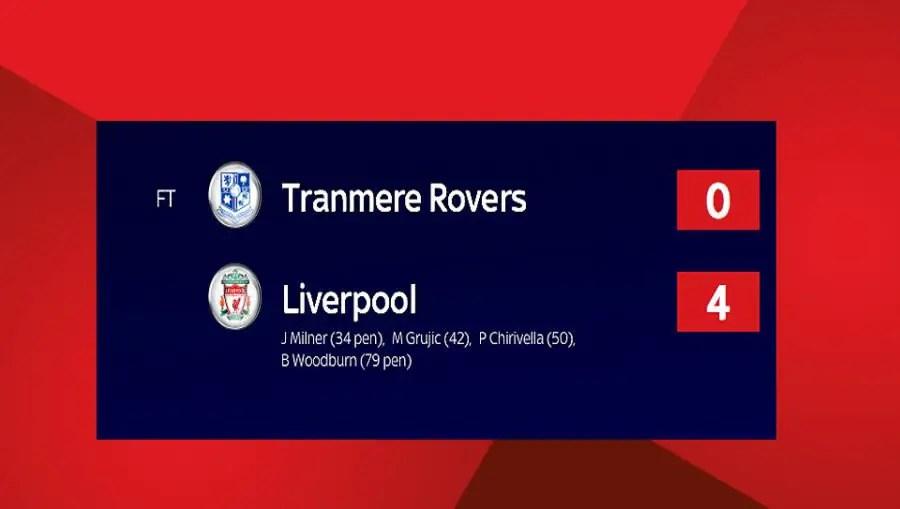 Liverpool v Tranmere