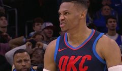 Westbrook Records Triple-Double, Thunder Top 76ers In 3OT