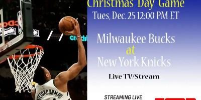 Giannis Antetokounmpo and Milwaukee Bucks live on Christmas Day.