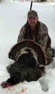 Ramsey Boyd with a Black Hills bird-in the snow!