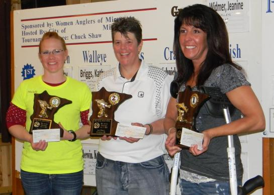 Julie Huewe, Julie Lane and  Michelle Rittenour, courtesy of Women Anglers of MN.