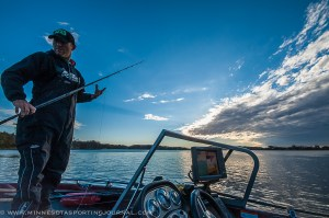 Joe Foxx getting ready to chase muskies