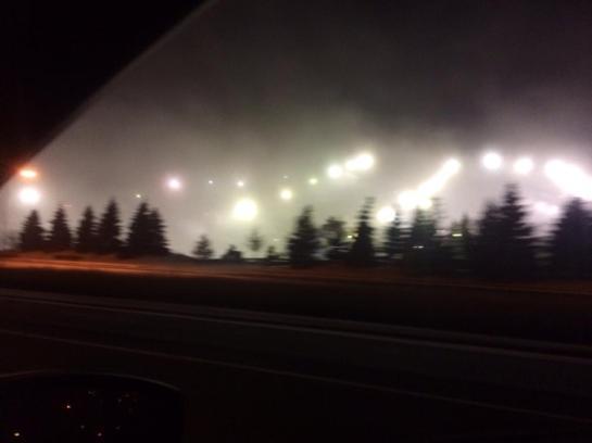 Secret government/alien installation?  Nah, just making snow at Buck Hill.
