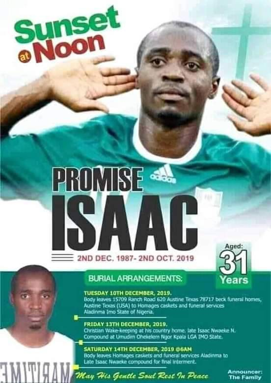 Why We Were Absent from Ex Flying Eagles Captain Isaac Promise's Burial – NFF