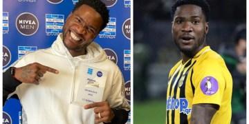Ideye celebrates Aris best goal award in Greek Super League