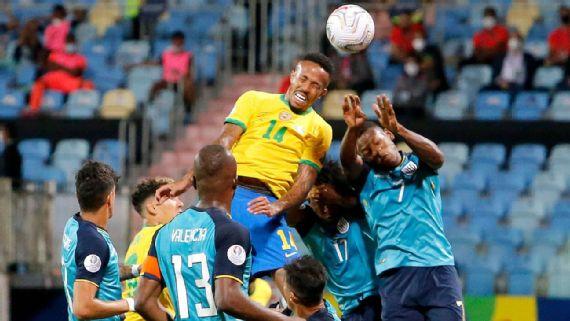 Copa America: Brazil draw with Ecuador in Group B finale