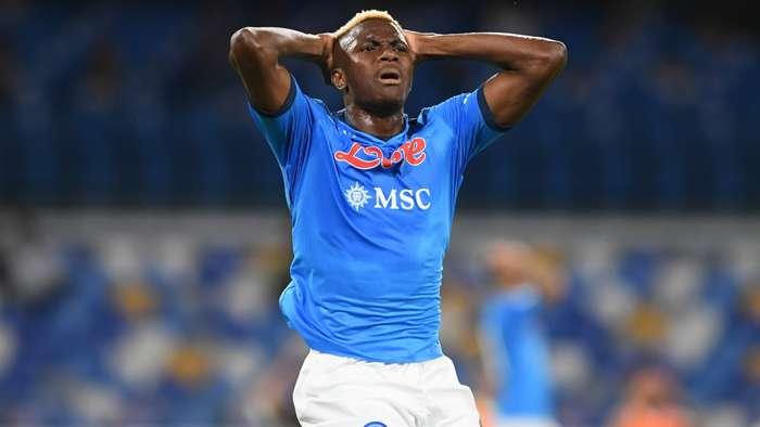 Osimhen slammed 2-match ban after red card