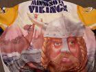 VTG 90s Chalk Line NFL Minnesota Vikings Retro Fanimation Bomber Jacket Large L