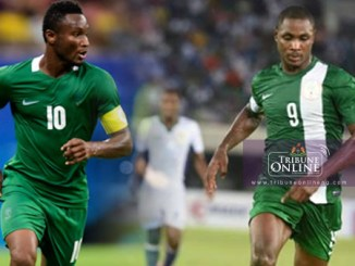 John Obi Mikel (left) and Odion Ighalo