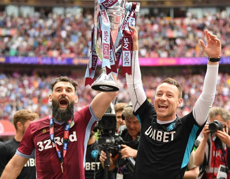 Aston Villa return to EPL with win over Derby County -