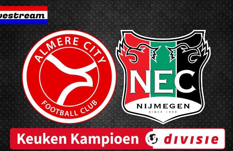 Gratis voetbal livestream Almere City FC - NEC
