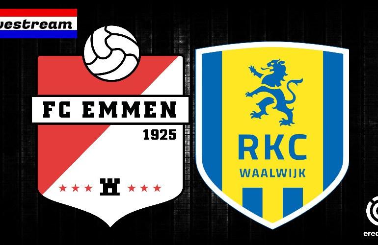 FC Emmen - RKC gratis eredivisie voetbal livestream