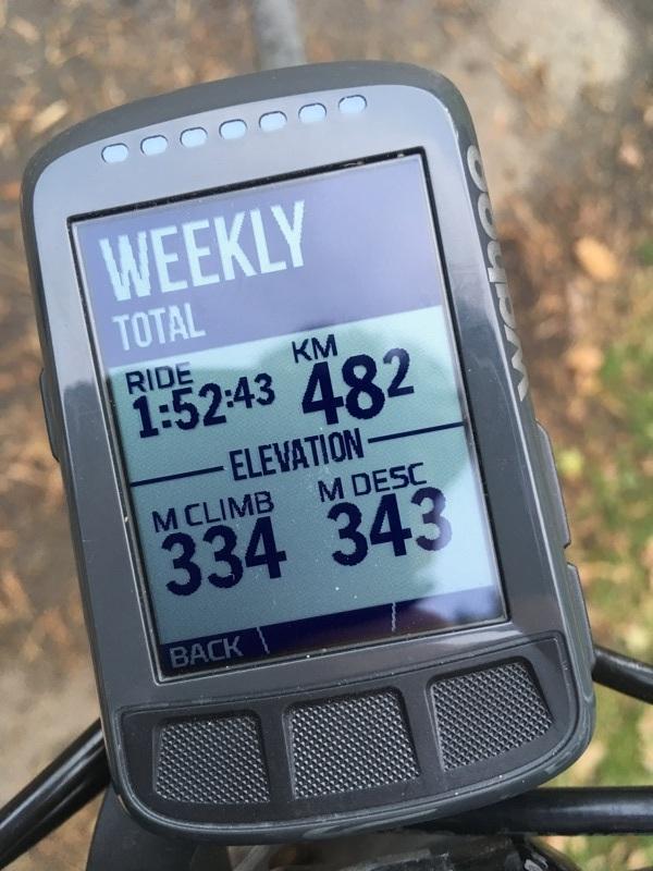 Wahoo ELEMNT BOLT weekly total
