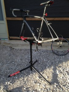 using a workstand for bike maintenance