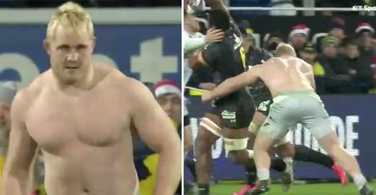 WATCH: A Shirtless Vincent Koch Absolutely Smashes Opponent