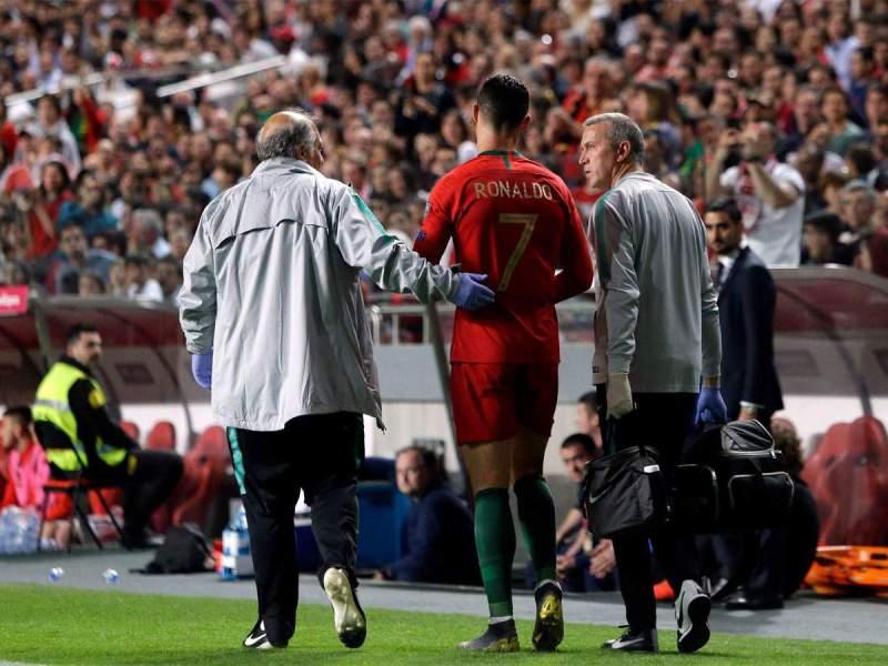 Injured Cristiano Ronaldo returns to Turin for tests — INDIA NEWS