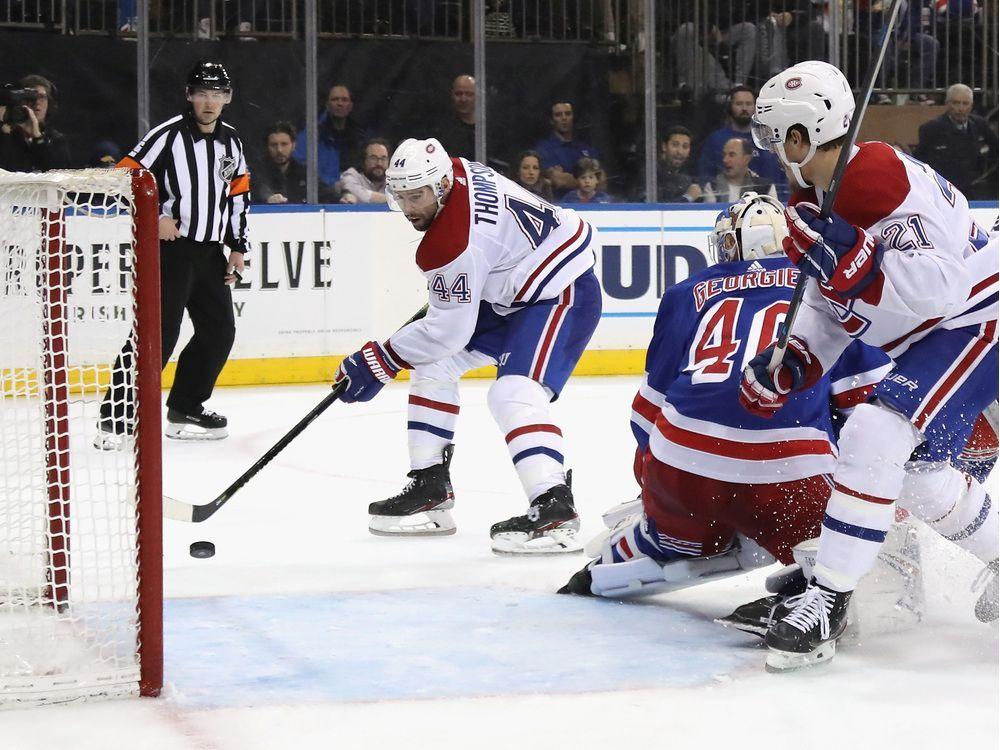 Nate Thompson's last-minute winner puts Canadiens over Rangers — Montreal Gazette