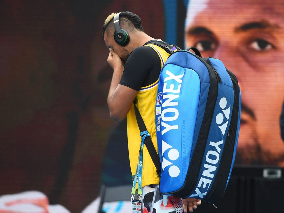 Nick Kyrgios Tears Up While Paying Tribute To Kobe Bryant At The Australian Open — Mix 102.3 Adelaide