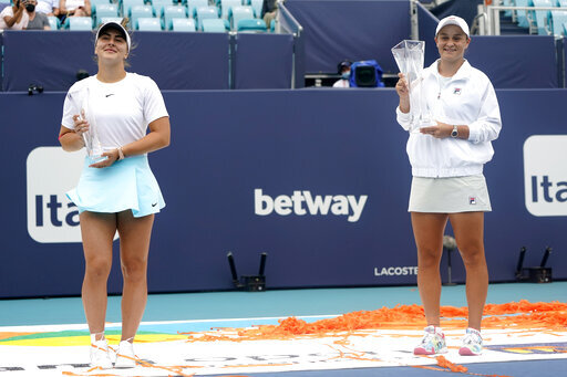 No. 1 Barty repeats as Miami champ when Andreescu retires — The China Post, Taiwan