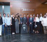 Movistar y su presidente reciben al Estudiantes de baloncesto femenino