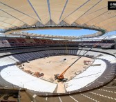 El Atlético de Madrid avanza en la construcción del estadio Wanda Metropolitano