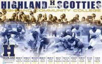 Highland CC Football Poster