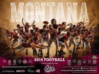 Montana Football Poster